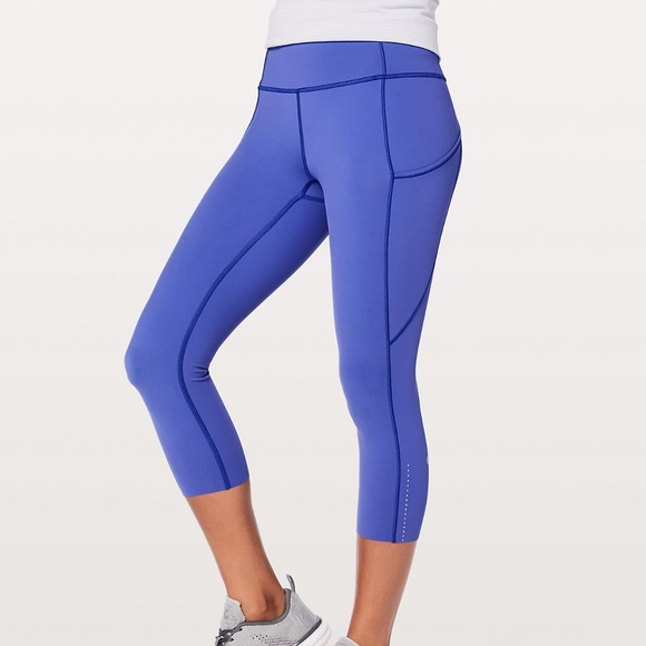 f4203240a2 lululemon athletica Pants | Fast Free Crop Ii Nulux 19 | Poshmark